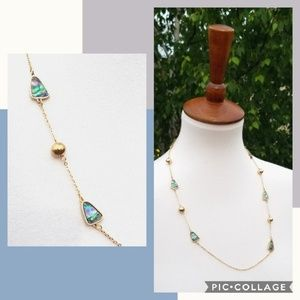 +new+ boutique silver/gold & ocean swirl necklace